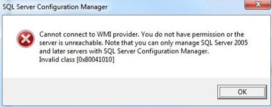 SQLServerConfigerror