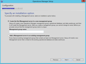 operations manager group setup