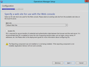 operations manager web console