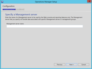 scom specify management server
