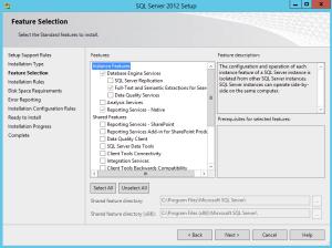 SQL Server 2012 Setup - SCOM