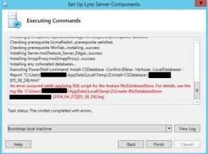 Lync error